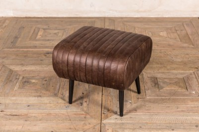 vintage brown real leather restaurant dining bench
