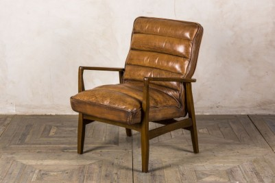 leather retro style armchair