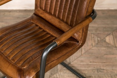 leather carver chair