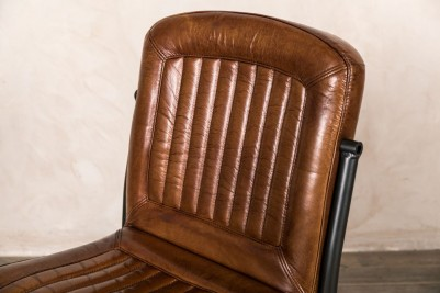 stitched leather chairs