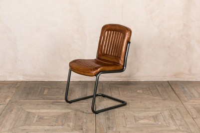 tan leather side chair