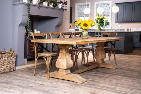 Saxton Reclaimed Pine Dining Table