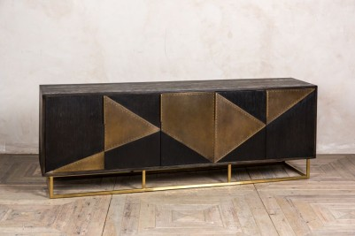 brass fronted sideboard