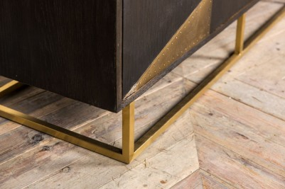 modern brass plated sideboard