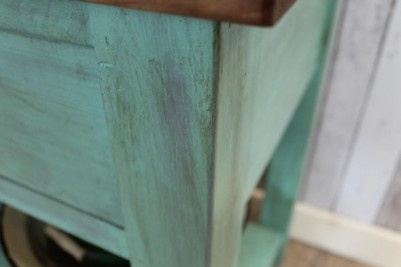 sideboard with distressed paintwork