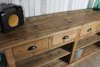 reclaimed pine dresser base