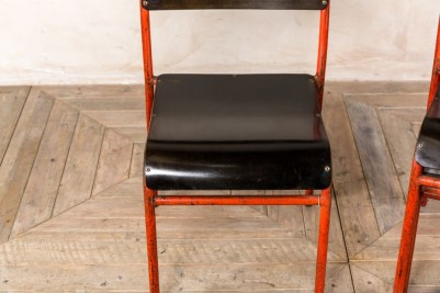 vintage straight leg stacking chairs