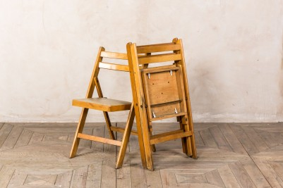 vintage foldable wooden chairs