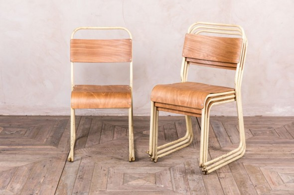 Cream Metal Chairs