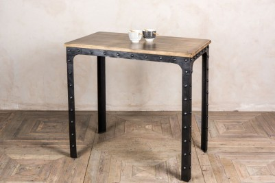 industrial poseur bar table