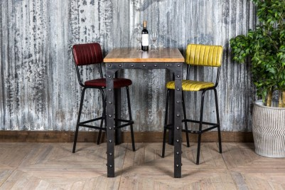 tall industrial restaurant tables