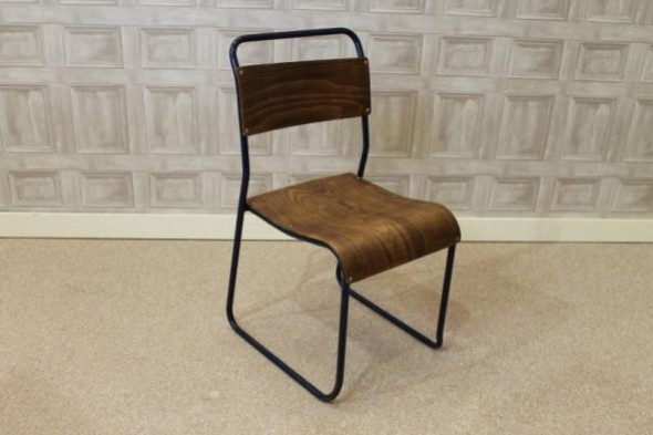 Trendy Plywood Stacking Chair Vintage Retro Industrial Stacking Chairs
