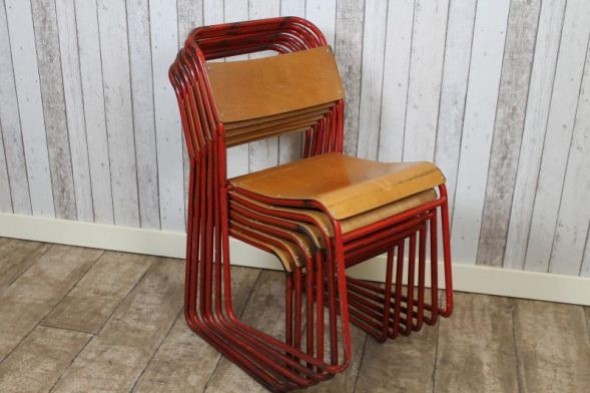 Kilkenny Red Stacking School Chairs