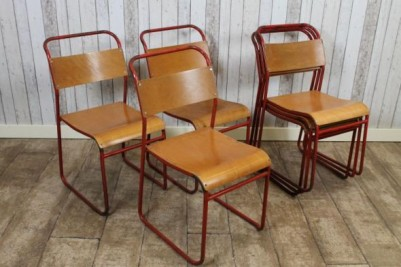 vintage retro remploy stacking chairs