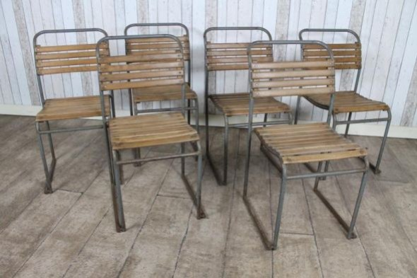 Covent Garden Slatted Stacking Chair