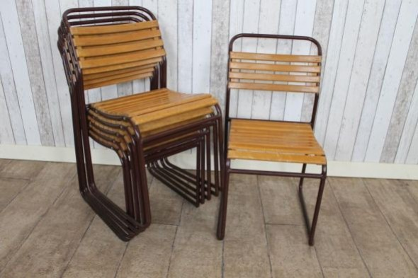 Worcester Slatted Stacking Chairs