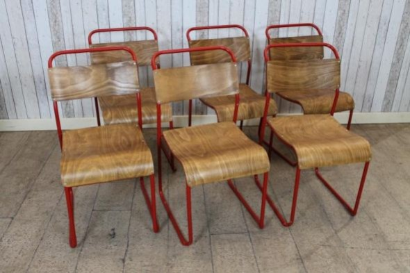 Red Rugby Stacking Chair
