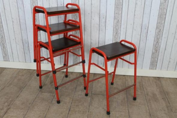 Red Stacking Stools