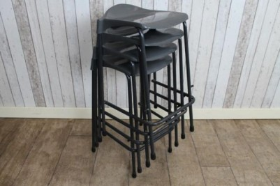 stacking stools plastic seats