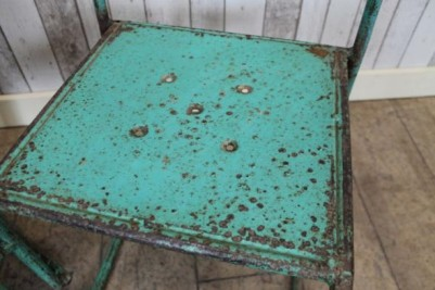 distressed vintage stacking chairs