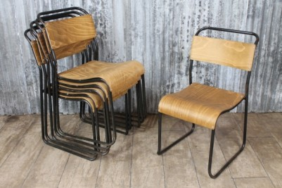 vintage stacking chair