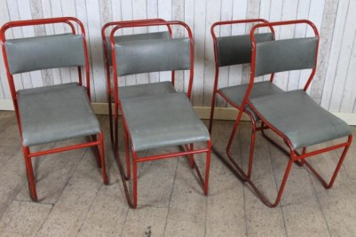 vintage stacking chairs upholstered