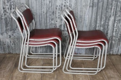 stacking chairs metal frame