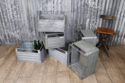 galvanised beer crates