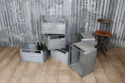 galvanised crate