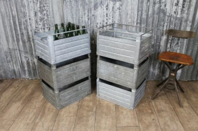 galvanised stacking crates