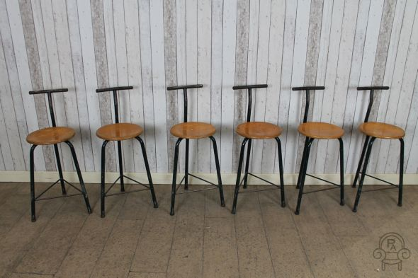 Set of 6 Industrial stools