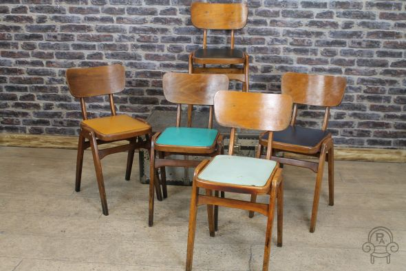Wooden Stacking Chairs Cafe Chairs Vintage
