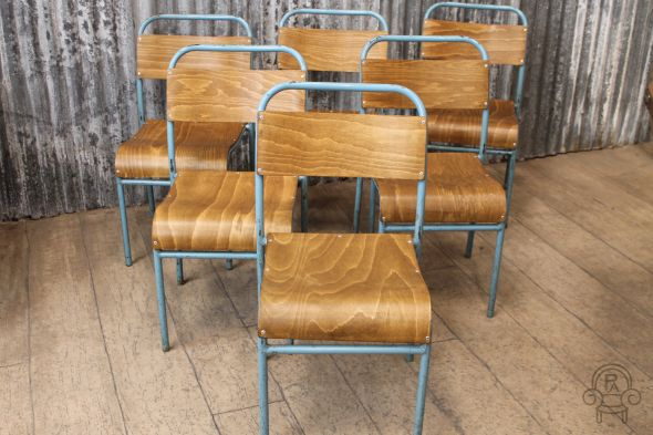 Light Blue Nest-a-Bye Stacking Chairs
