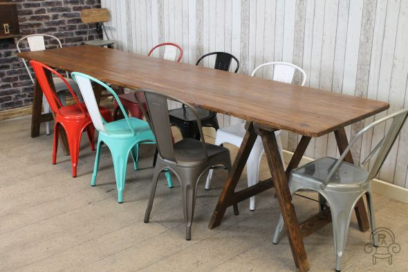 Large trestle table