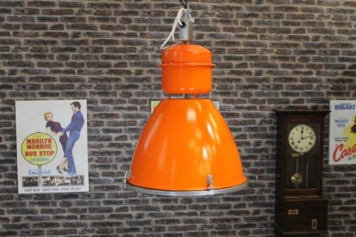 large orange industrial light