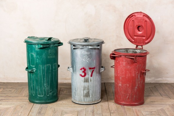 Galvanised Industrial Trash Cans