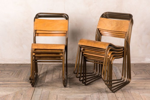 Metal School Chairs