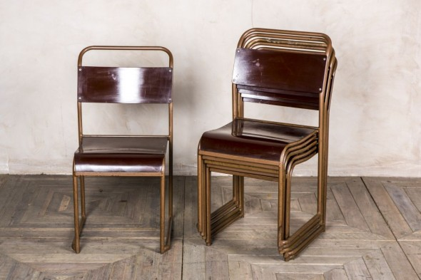 Set of Six Bakelite Chairs