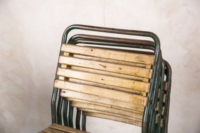 vintage stacking classroom chairs