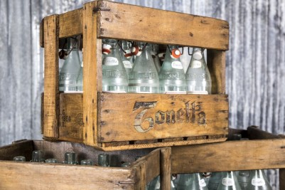 vintage bottle crates