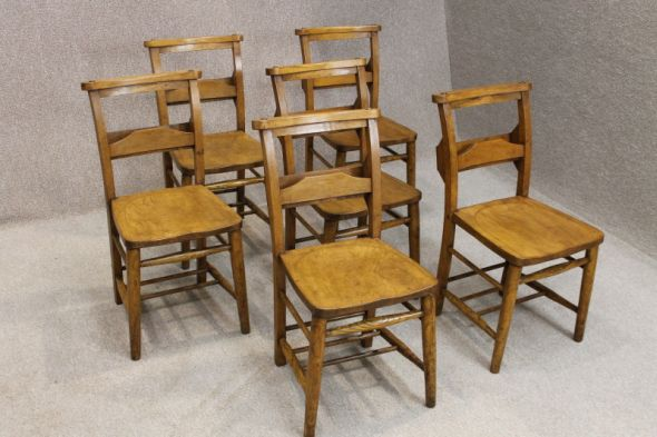 Edwardian Elm and Beech Chapel Chairs