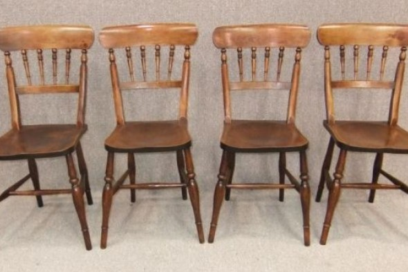 Victorian Kitchen Chairs Set of 4