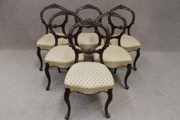 Set of Victorian Dining Chairs in Mahogany