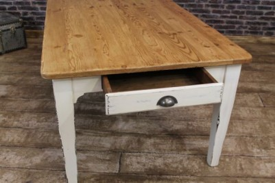 distressed painted pine table