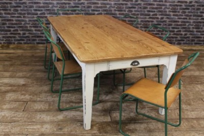 shabby chic reclaimed pine table