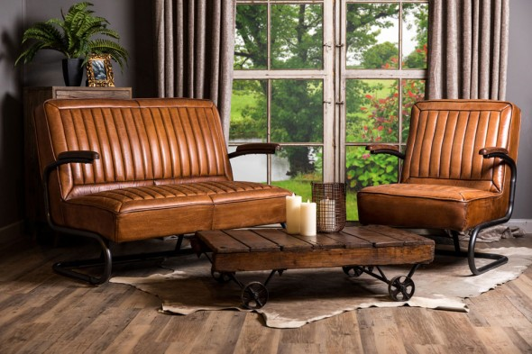 Shard Vintage Style Leather Seating Range