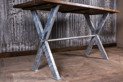 galvanised base dining table