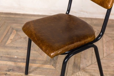 vintage brown cafe chairs