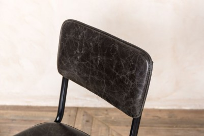 vintage grey leather chair