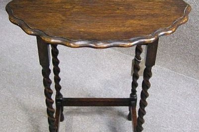 Barley Twist Oak Side Table